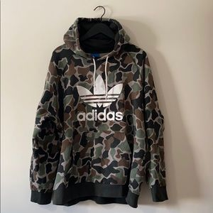 Adidas Camouflage Hooded Sweatshirt
